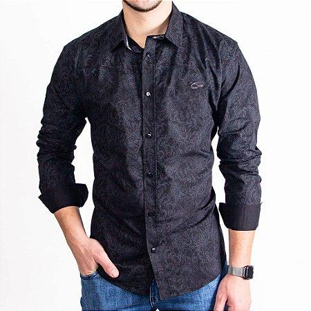 Camisa Masculina Manga Longa Marca Sallo