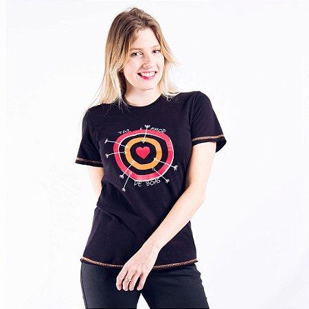 T-shirt Feminina Manga Curta