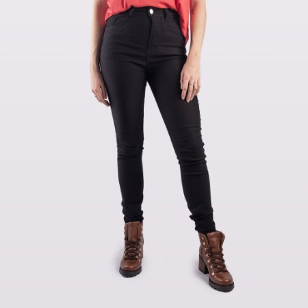 Calça Jeans/Sarja Preta Feminina Hoje Collection