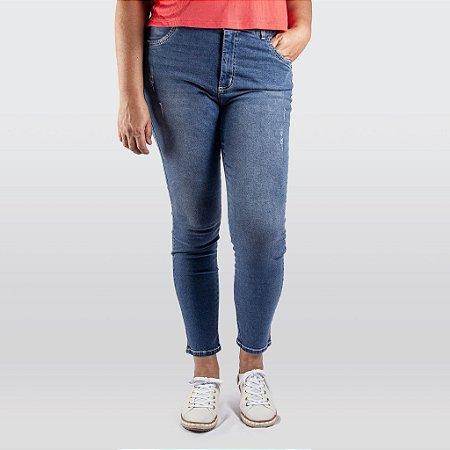 Calça Cigarrete Plus Size Jeans Feminina Indulto
