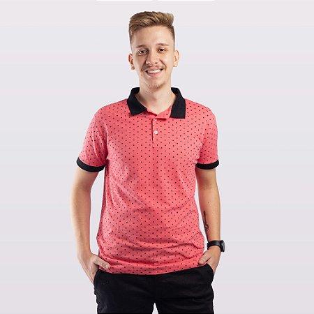 Camiseta Polo Masculina Aplicatto Estampada