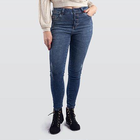 Calça Jeans Feminina Indulto com Botões