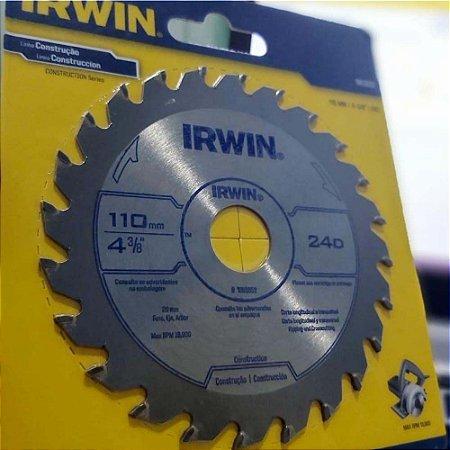 Disco Serra Circular Basico 110x24x20 - Irwin