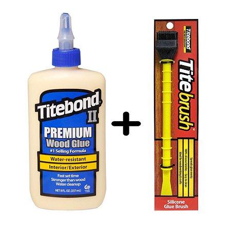 Kit Titebond Ii Premium 258g + Pincel de Silicone Titebrush