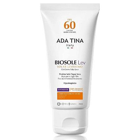 Protetor Solar e Anti Idade vegano Biosole Lev FPS60 - pele oleosa e com acne - Ada Tina