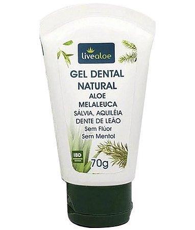 Gel dental natural vegano Aloe e Melaleuca - Livealoe
