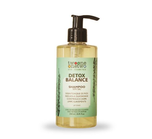 Shampoo Vegano Detox Balance - cabelo oleoso/caspa - Twoone Onetwo