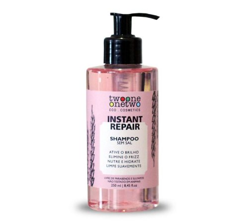 Shampoo Vegano Instant Repair - cabelo normal a seco - Twoone Onetwo