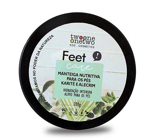 Manteiga Nutritiva Vegana para Pés - Karité e Alecrim - Twoone Onetwo
