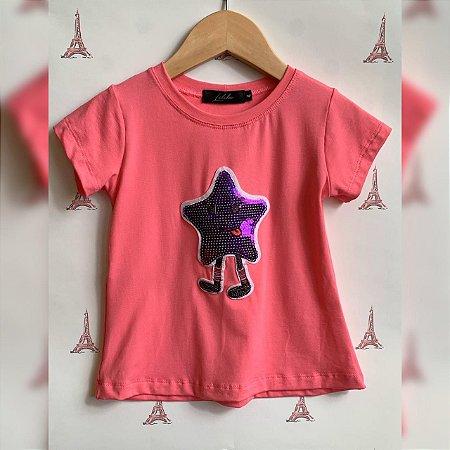 T-Shirt estrelinha roxa