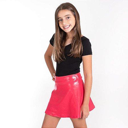 Shorts Saia gel brilho pink