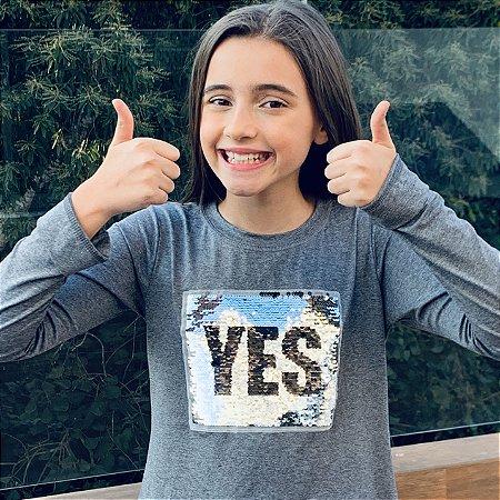 T-Shirt manga longa Yes/No