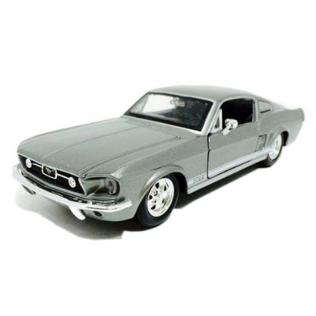 Miniatura Ford Mustang GT (1967) - Cinza Metálico