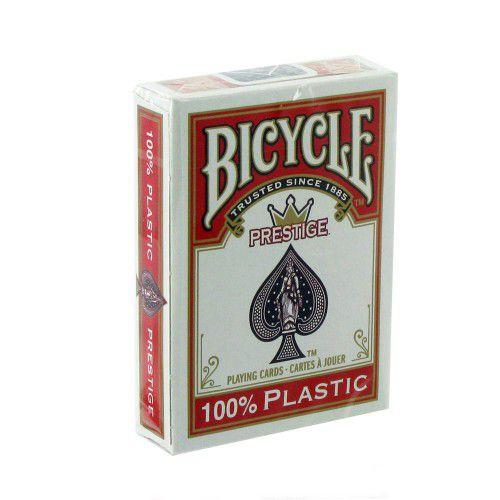 Baralho Bicycle Prestige Texas Hold Plástico Vermelho ou Azul