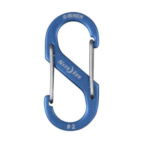 Mosquetão alumínio Nite Ize S-Biner #2 SBA2-03-R6 azul