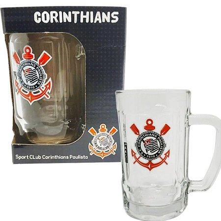Caneca Chopp Vidro Corinthians 340ml