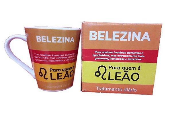 Caneca Porcelana Leão 290ml