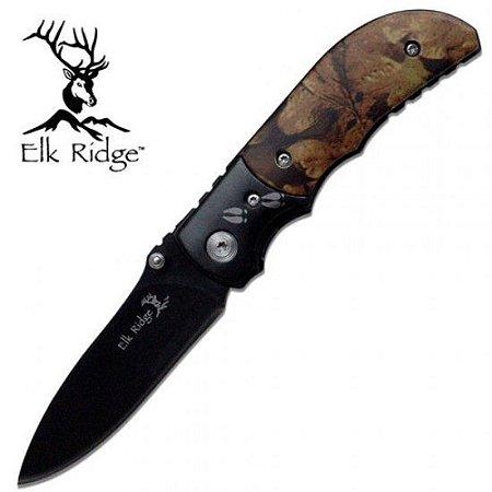 Canivete Elk Ridge Camuflado Pegadas Cervo - ER-133