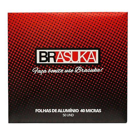 Papel Alumínio p/ Narguile Brasuka cx c/50 folhas