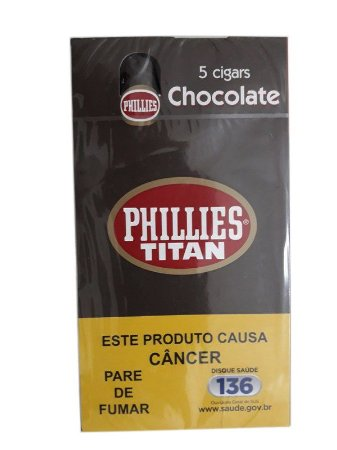 Charuto Phillies Titan Chocolate cx c/5