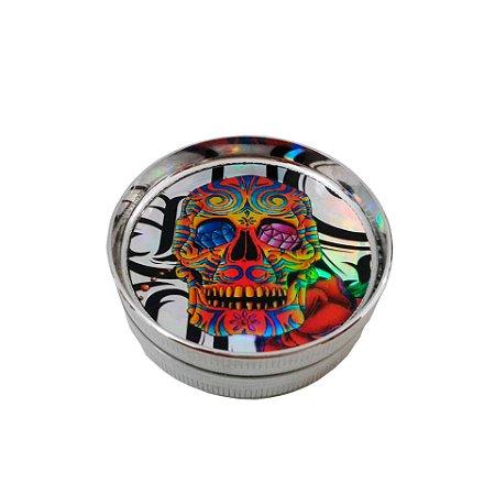 Triturador Metal Caveira Mexicana - 2 partes