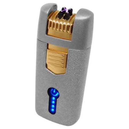 Isqueiro Eletrônico Plasma em Metal