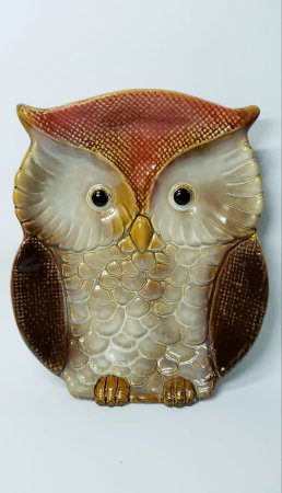 Petisqueira Coruja em Porcelana