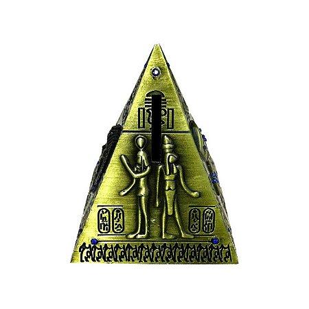 Porta Moedas Pirâmide Metal