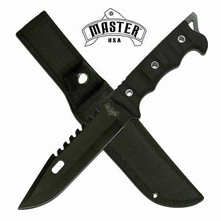 Faca Master Usa Preta - Ref. MU-20-02BK