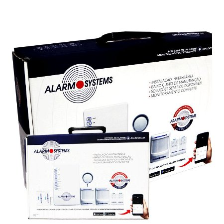 Kit Alarme completo sem fio mais aplicativo instale você mesmo