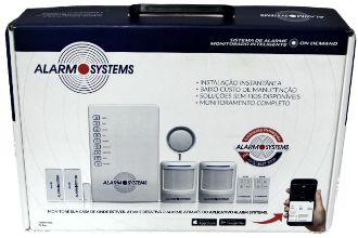 Kit Alarme completo sem fio com aplicativo c/4 sensores de movimento
