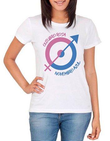 Camiseta – Outubro Rosa/Novembro Azul