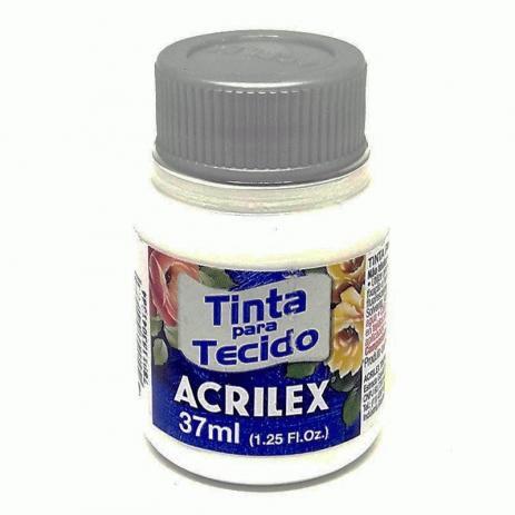 Tinta acrilex para tecido branca 37ml