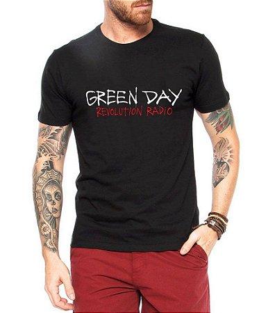 Camiseta Green Day Tour Brasil Show Revolution Radio Preta