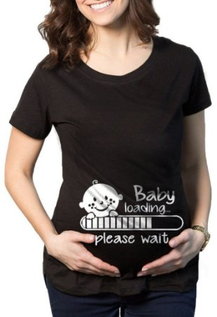 Camiseta Feminina Gestante Grávida Baby Loading- Personalizada