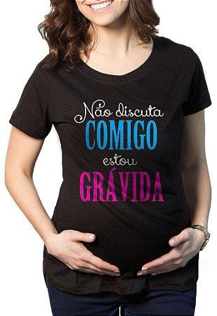 Camiseta Feminina Gestantes Grávida Engraçadas Estou Grávida