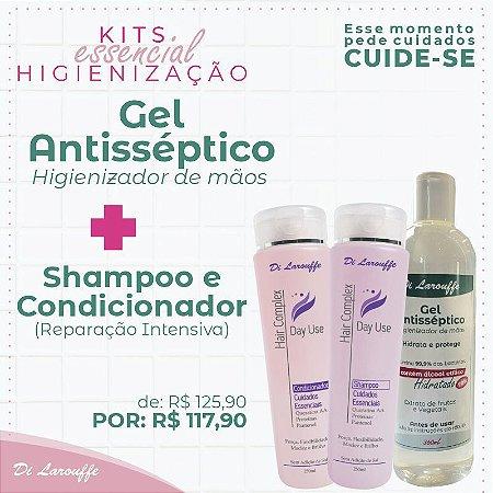 Shampoo+Condicionador DayUse + Gel Antisseptico