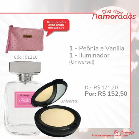 Perfume Peonia & Vanilla e Iluminador Universal