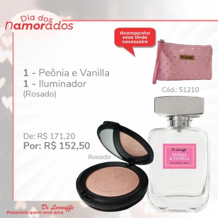 Perfume Peonia & Vanilla e Iluminador Rosado