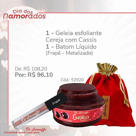 Geleia Esfoliante Cereja com Cassis + Baton liq. Frape - Metalizado