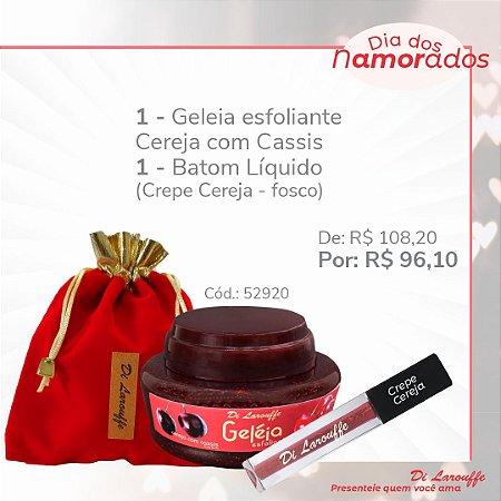 Geleia Esfoliante Cereja com Cassis + Baton liq. Crepe Cereja