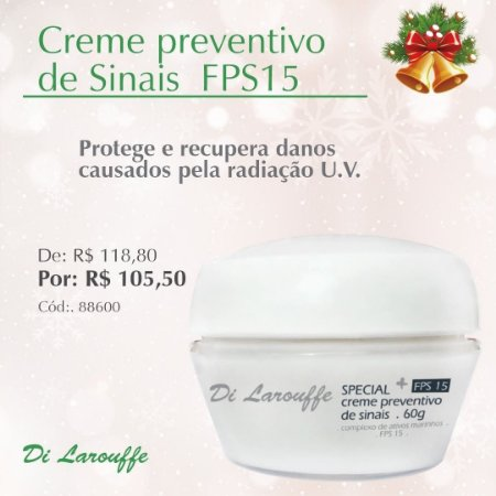 Creme Preventivo de Sinais FPS15 Special+