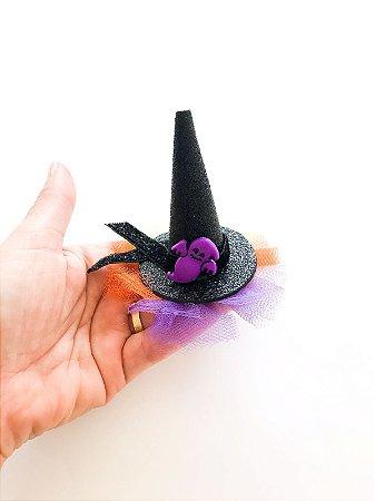 Laço Halloween Bebê - Chapéu de bruxa