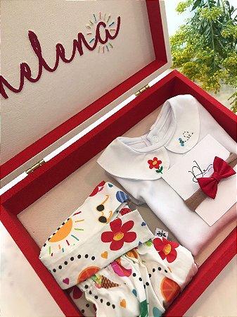 Caixa Personalizada e Exclusiva  - Madeira e linho - Tarde de Sol