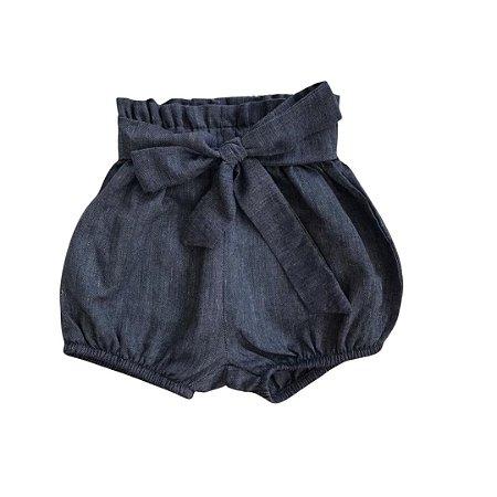 Bloomer Infantil Jeans Algodão Escuro