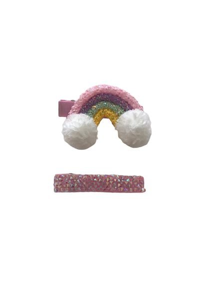 Kit Hair Clip Infantil Arco Íris