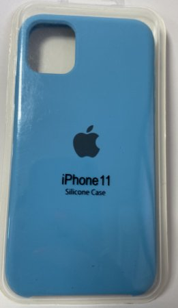 Capinha silicone iPhone 11 Apple - Azul