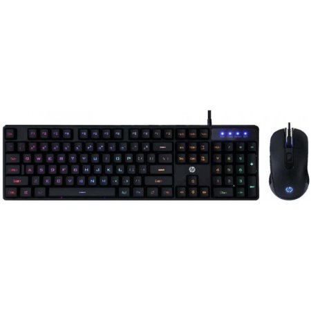 Kit Teclado e Mouse Usb Gaming Memb Km200 Pto Hp