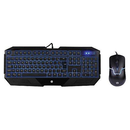Kit Teclado+Mouse Usb Gaming Memb Gk1100 Pto Hp