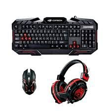 KIT TECLADO + MOUSE + FONE GAME GK-100BK C3 TECH